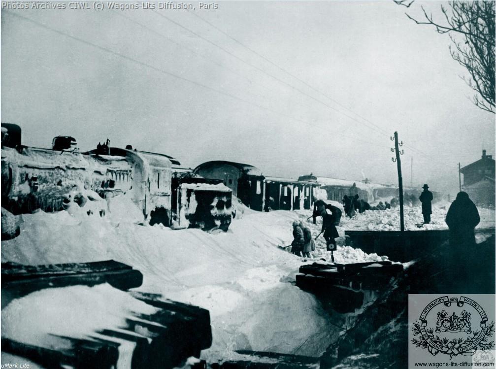 Wl orient express bloque par la neige 1929