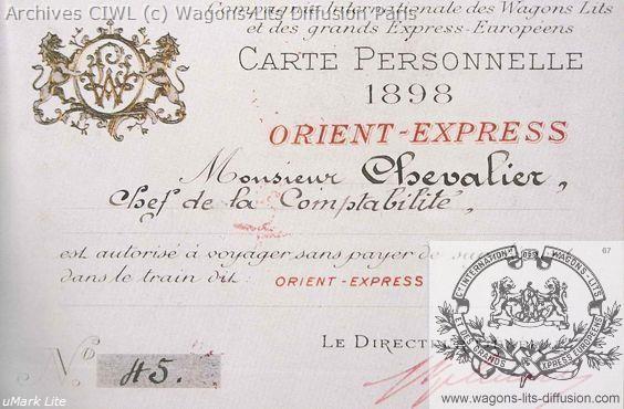 Wl permis de circulation billet ciwl 1898