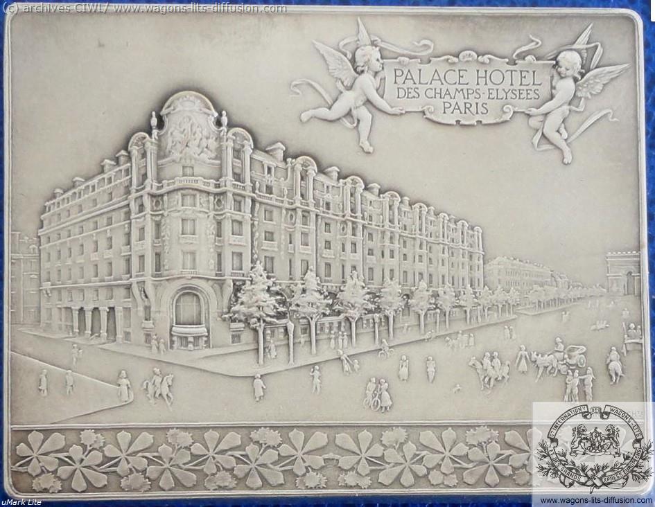 WL plaque commémorative Palace hotel Paris 1899 verso