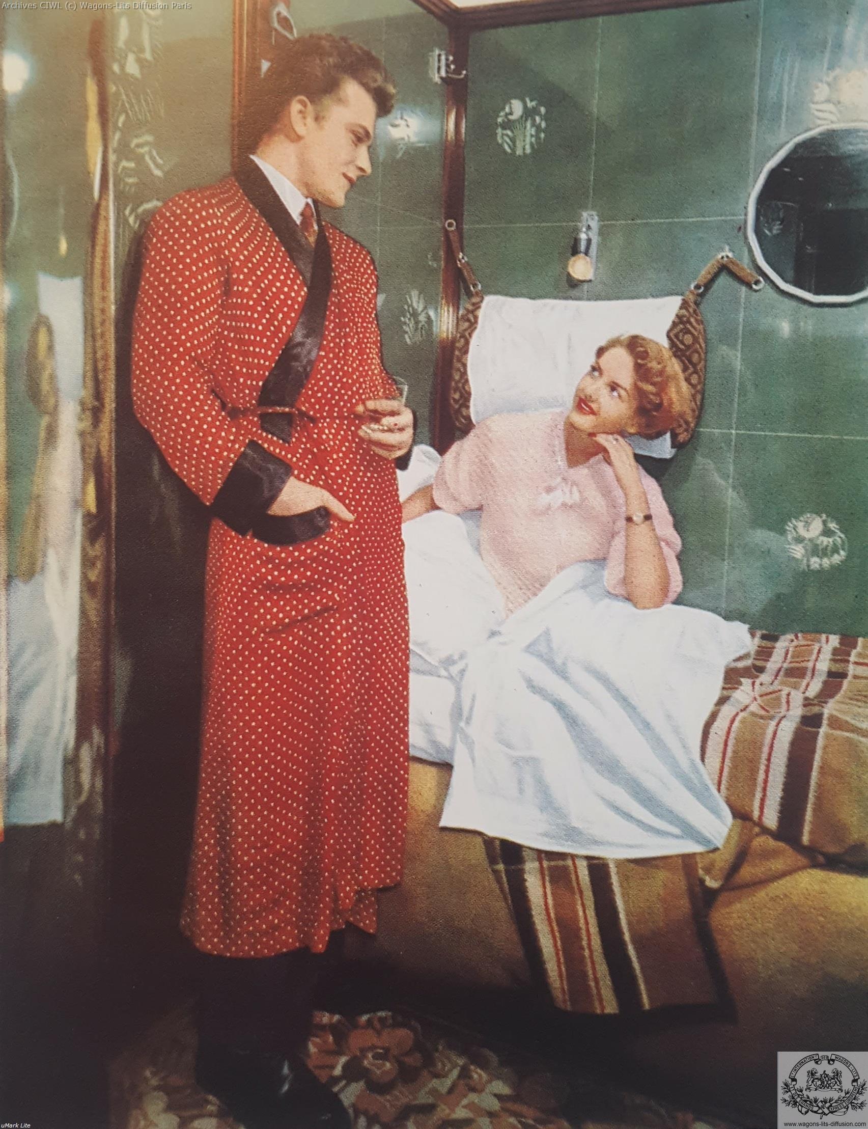 Wl pub compartiment voiture lits 1950