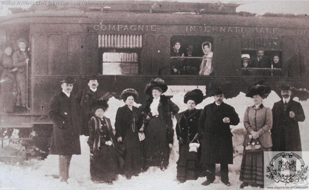 Wl st pertersbourg nice express bloque par la neige en 1909 2