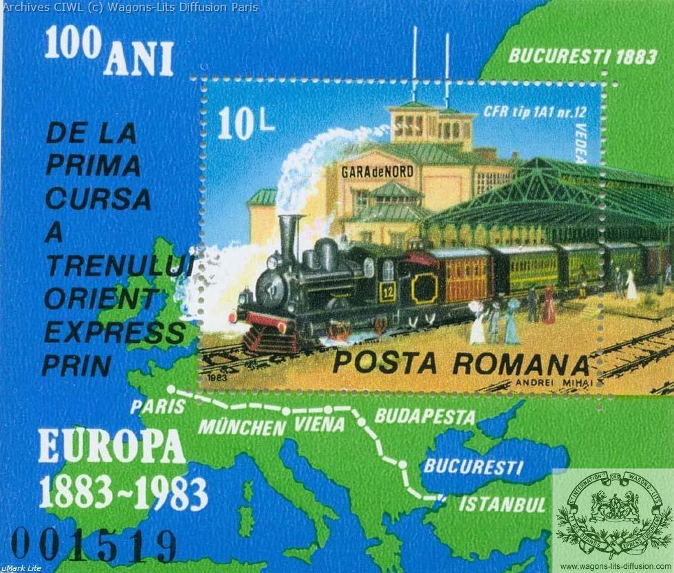 Wl timbre 100 ans orient express italie