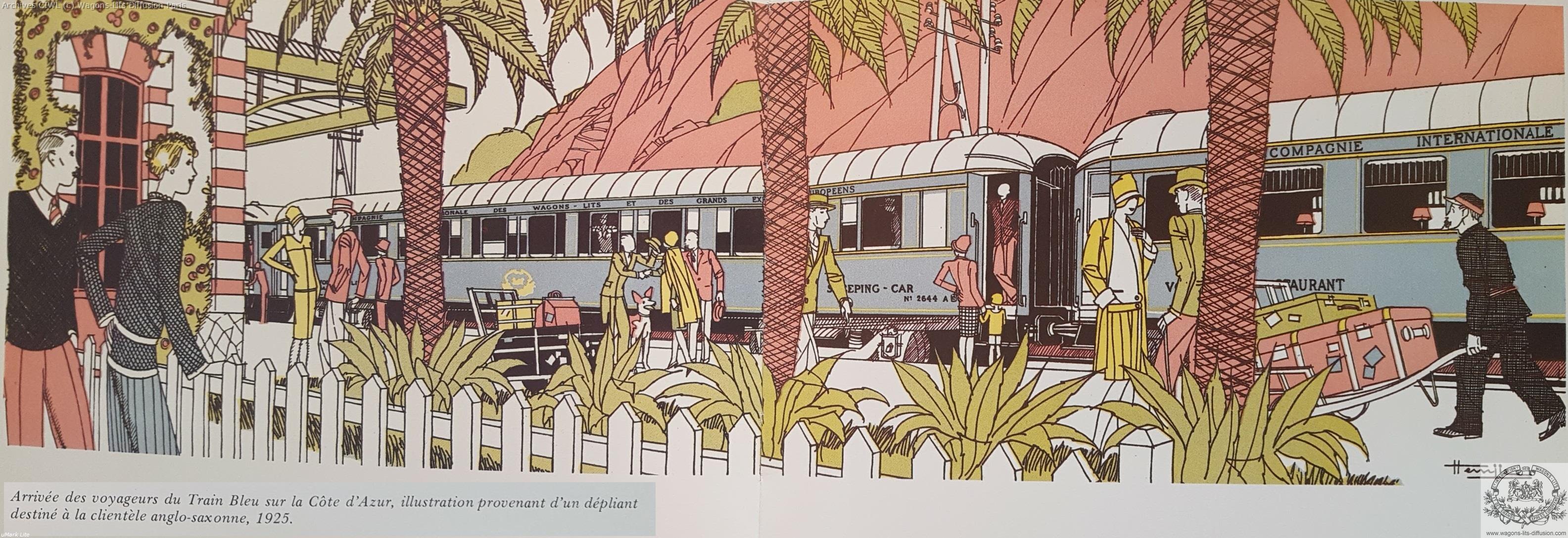 Wl train bleu cote d azur 1925