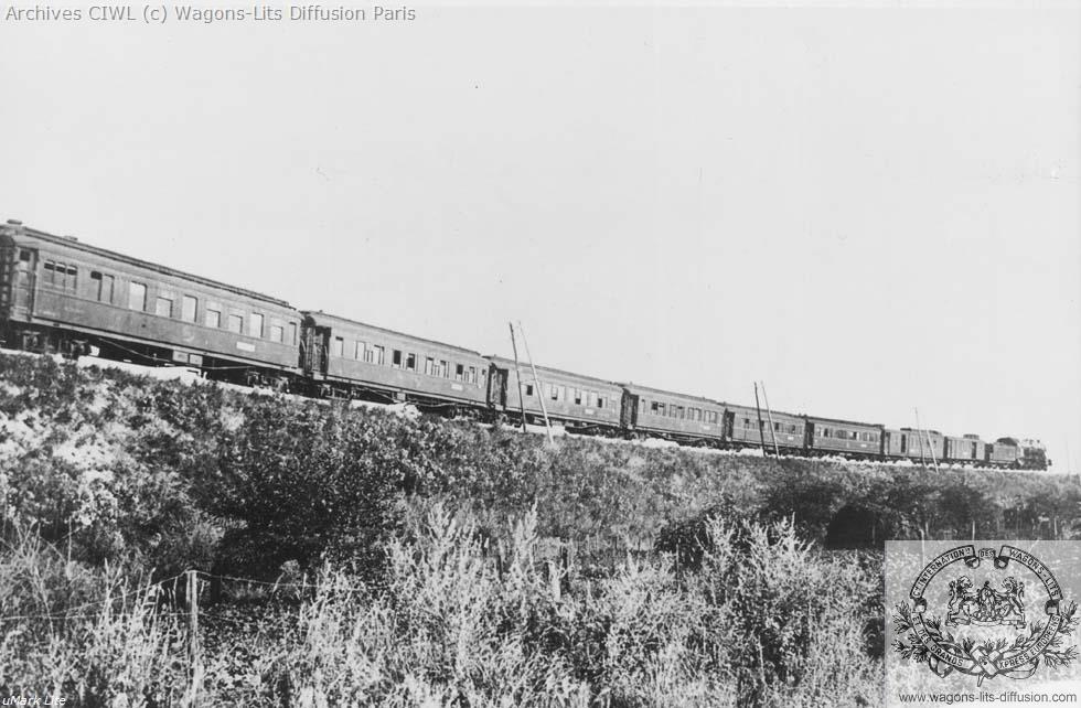 Wl train complet simplon orient express a villeneuve 1924