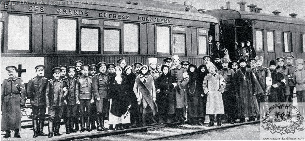 Wl train sanitaire en russie en 1916