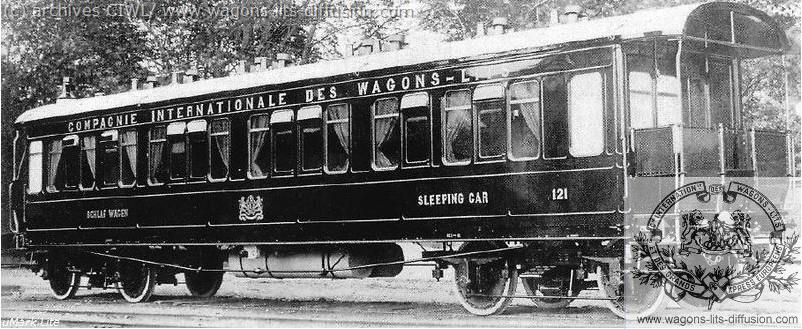 WL voiture-lit orient express vers 1900